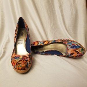 "Fioni confetti platform 4"" high heels Size 6"